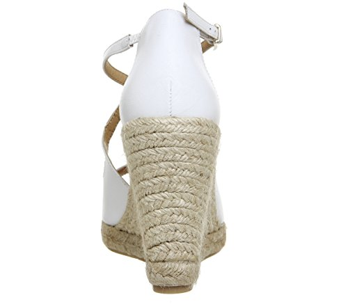 Office Women's Halkidiki Espadrilles White Leather mpuCiEtsH