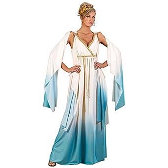 Fun World Greek Goddess Costume Crème/Light Blue Small/Medium 2-  sc 1 st  Amazon.com & Amazon.com: Fun World Womenu0027s Greek Goddess Costume: Clothing