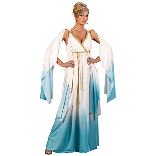 Fun World Greek Goddess Costume, Crème/Light Blue, Medium/Large 10-14