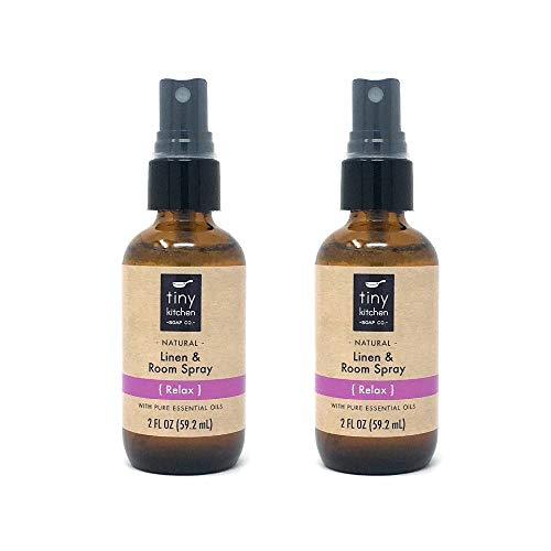 Relax Essential Oil Linen and Room Spray (2 Pack) - Handmade Natural Air Freshener