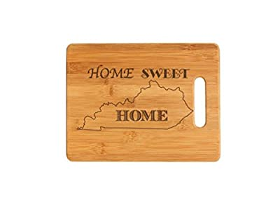 Kansas State Home Sweet Home Personalized Cutting Board, Wedding Gift, Laser Engraved, Wood Bamboo Board, Anniversary gift, Christmas Gift