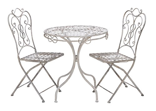 - Deco 79 Metal Bistro, 29-Inch by 28-Inch, Set of 3