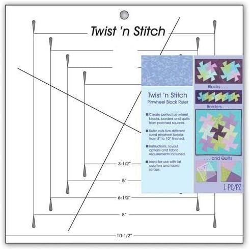 YICBOR Twist n Stitch Pinwheel Block Ruler #775