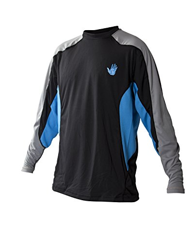 Body Glove Men's Performance Loose Fit Long Sleeve Shirt, Empire Blue/Black, XX-Large -