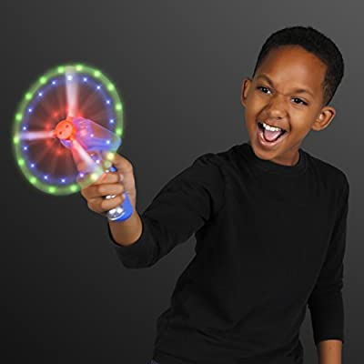 Space Blaster Toy Gun with Spinning LED Lights: Toys & Games