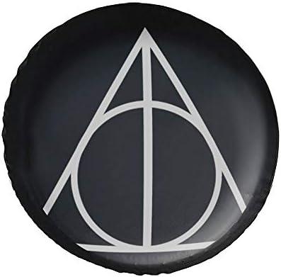 ハリー・ポッター Harry Potter And The Deathly タイヤカバー タイヤ保管カバー 収納 防水 雨よけカバー 普通車・ミニバン用 防塵 保管 保存 日焼け止め 径83cm
