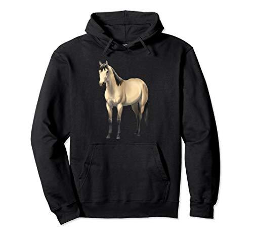 Beautiful Buttermilk Buckskin Quarter Horse Hoodie ()