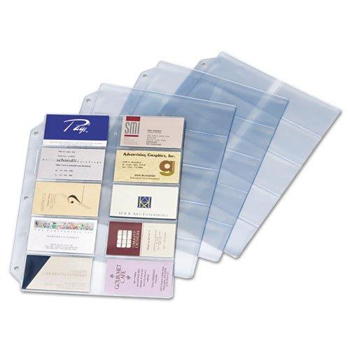 Cardinal Business Card Refill Sheets - Cardinal Business Card Refill Pages, Holds 200 Cards, Clear, 20 Cards/Sheet, 10/Pack