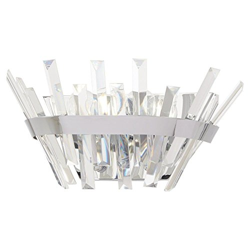 Crystal Bellacor Sconce (Minka Lavery Crystal Wall Sconce Lighting 4812-77 Echo Radiance Wall Lamp Fixture, 2-Light 120 Watts, Chrome)