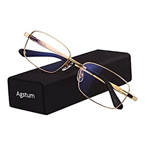 130a45dcf7 Agstum Titanium Full Rim Glasses Frame Optical Eyeglasses Rxable ...