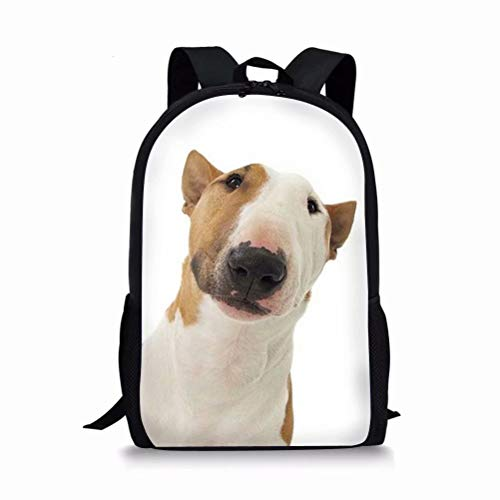 (Beauty Collector Bull Terrier Personalized School Backpack for Kids Boys Girls 17 Inch Bookbags Warterproof)