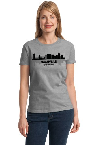 NASHVILLE, TN CITY SKYLINE Ladies' T-shirt / Country Music City Titans Fan Tee
