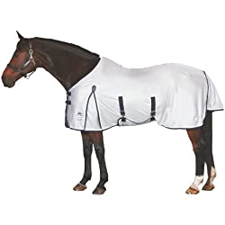 WeatherBeeta Airflow Standard Neck Fly Sheet - Size:81 Color:Silver/Navy/White