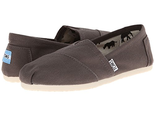 TOMS Women's Classic Canvas Slip-Ons Ash Canvas 7 (Ash Slip On Sneaker)
