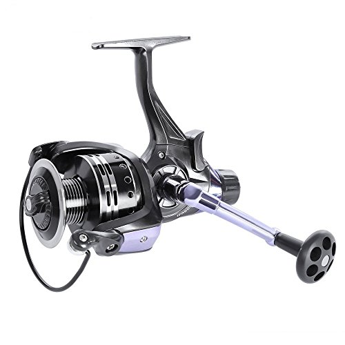 OUTLIFE Fishing Spinning Reel - Baitrunner Front&Rear Brake Drag 11+1 Ball Bearing 4.7:1 for Freshwater/Saltwater (IFR6000)