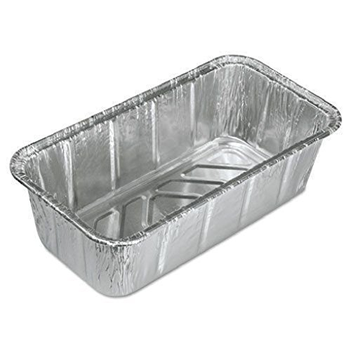2 lb. Aluminum Foil Loaf Pan 200 Pack - Disposable Bread/Baking Tin by Osislon Series