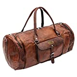 Best World Traveler Overnight Business Travel Bags - Vintage Leather Duffel Travel Gym Sports Overnight Weekend Review