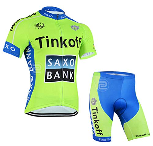 (Men's Cycling Jersey Set Bike Jersey Bicycle Summer Breathability Short Sleeve Suit C100 (F, L))