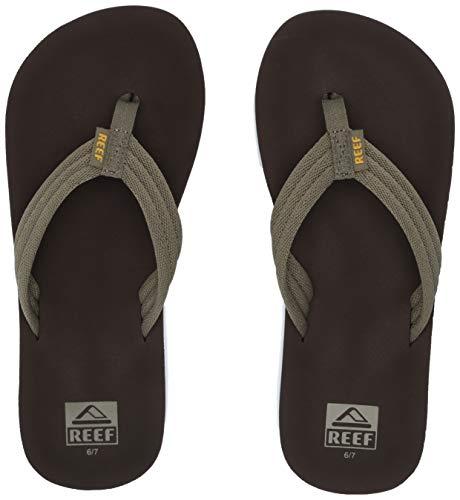 (Reef Boys AHI Beach Sandal Brown/Olive 131 M US Little Kid)