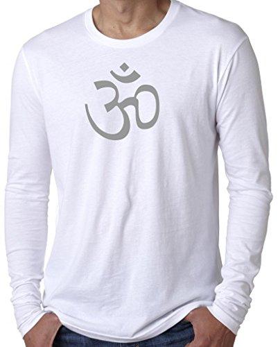 Yoga Clothing For You Mens AUM Symbol Long Sleeve Tee Shirt