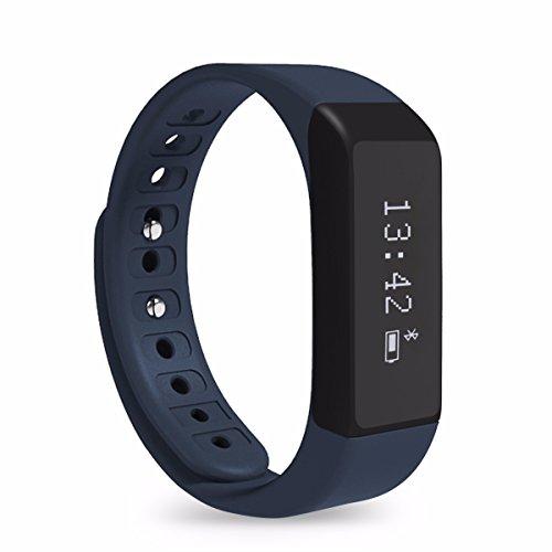 Fitness Tracker, ELEGIANT Sport SmartWatch I5 Plus Bluetooth 4.0 Armband Intelligente Uhren OLED Display Schrittzähler Aktivitätsarmband Fitnessarmband Tracker Wasserdichte IP65 Sportuhr mit Schlafanalyse Schritte Zählen Kalorienanalyse SMS Anrufe Reminder für Samsung iphone HTC Android IOS