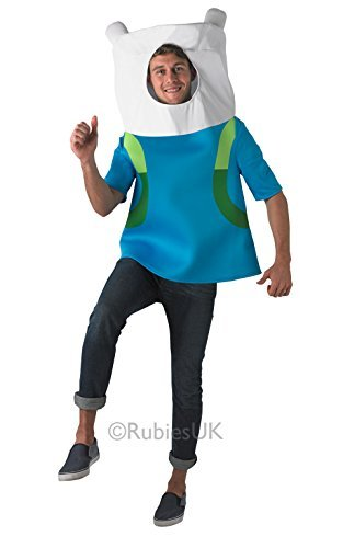 Finn the Human - Adventure Time - Adult Fancy Dress Costume - One Size by Rubies  sc 1 st  Amazon.com & Amazon.com: Finn the Human - Adventure Time - Adult Fancy Dress ...