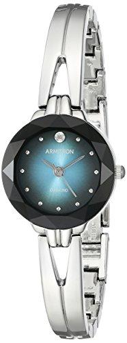Armitron Women's 75/5323TLSV Diamond-Accented Degrade Dial Silver-Tone Bangle