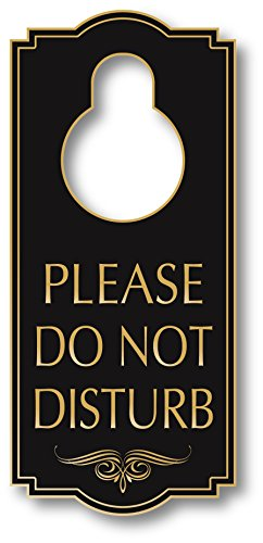 My Sign Center Do Not Disturb Door Hanger Sign, Indoor and Outdoor Use, 4