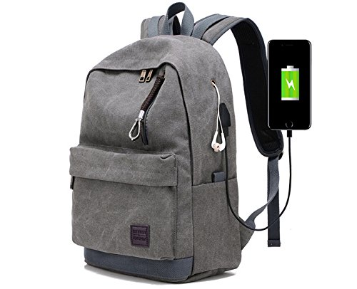 Dream Hunter A-001 Laptop Backpack Waterproof Camping Duffle, Travel School Weekender, Mountaineering bag, Grey