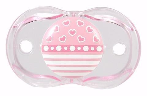RazBaby Pink Hearts Keep-It-Kleen Orthodontic Pacifier