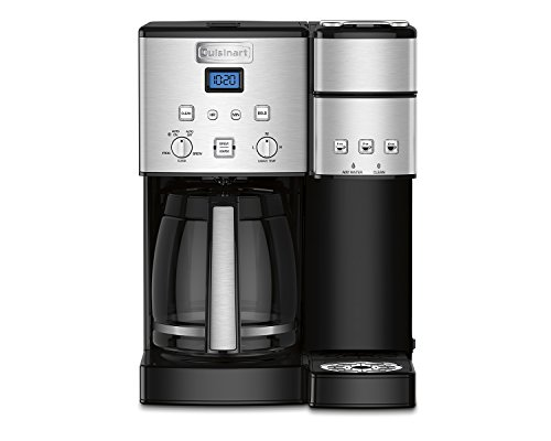 - Cuisinart SS-15 Maker Coffee Center 12-Cup Coffeemaker and Single-Serve Brewer, Silver
