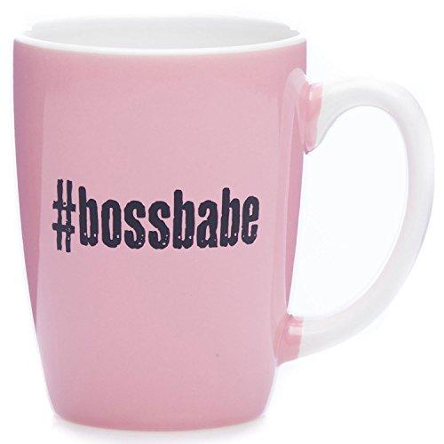 (#bossbabe Pink Coffee Mug 11 Ounce - Fun Graduation, Empowerment, Motivational Gift for Women )