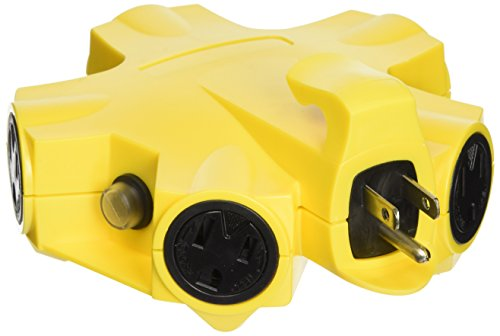 Yellow Jacket 27362 5-Outlet 15-Amp Outdoor Power Strip Adapter