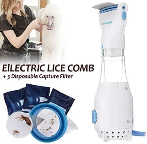 Head Vacuum Lice Comb Electric Capture Pet Filter Lice Treatment DGEG Head Lice Treatment-Electric Lice Comb