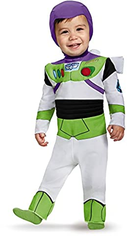 Disguise Costumes Buzz Lightyear Deluxe Costume (Infant), 6-12 (Deluxe Bambino Buzz Lightyear Costume)