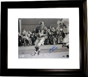 Athlon CTBL-BW648n YA Tittle Signed New York Giants 16 x 20 Photo HOF Custom Framed