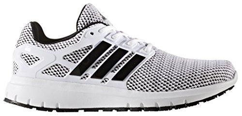 adidas Performance Men's Energy Cloud m Running Shoe, White/Black/Black, 11 Medium US (Mens White Running Shoes)