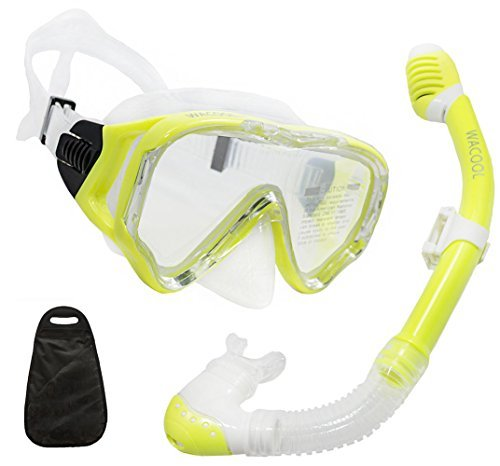WACOOL Snorkeling Snorkel Package Set for Kids Youth Junior, Anti-Fog Coated...