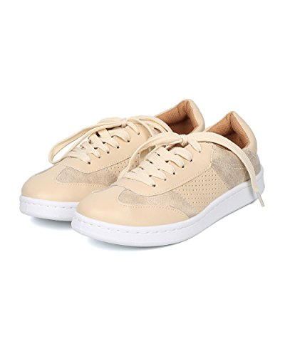 Qupid Women Leatherette Low Top Sneaker - Casual, Everyday, School - GE21 by Stone
