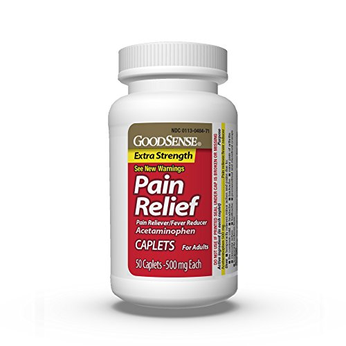 GoodSense Extra Strength Pain Relief, 500 mg Acetaminophen Caplets, 50 Count by Good Sense (Image #5)