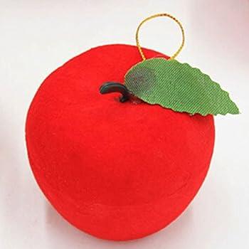 Amazon.com: 12 pcs Christmas Red Apples Christmas Tree Hanging ...