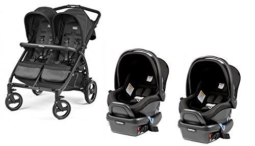 Peg Perego Book For Two With Car seat Adapter and Car seat (2 Car Seat/2 Adapter, (Peg Perego Adaptor)