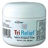 TriRelief Pain Cream [2 oz] Pain Relief Cream for Arthritis, Tennis Elbow, Bursitis, Back Pain, Shoulder Pain