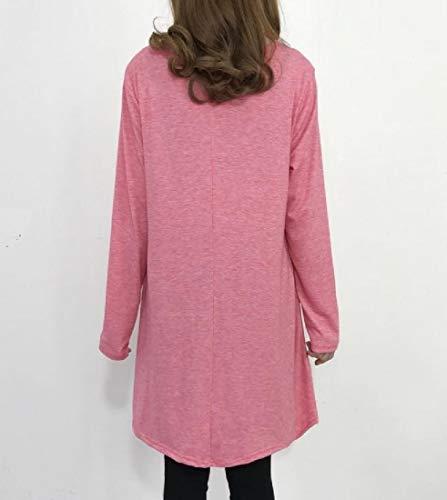 Howme Oscillation Longue Taille Plus Solide Femme Manches Mode Tunique Robe De Pastèque Rouge