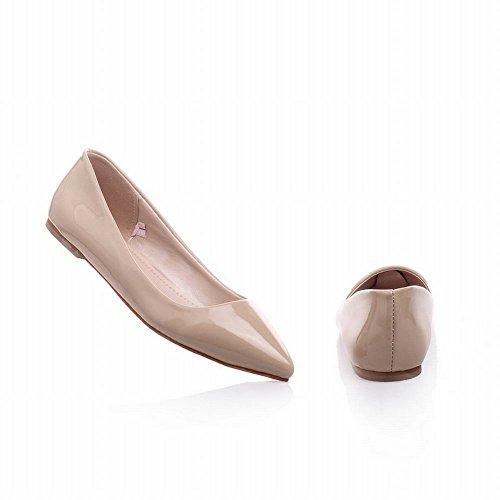 Latasa Womens Fashion Pointed-toe Dress, Casual Flats Shoes apricot