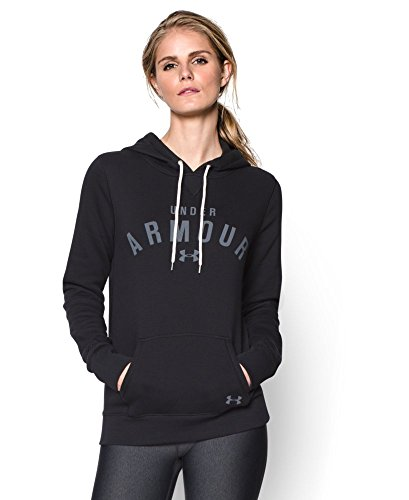 Under Armour Women's UA Storm Rival Cotton Pullover Hoodie Small Black