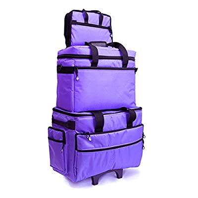Image of BlueFig TB19 Sewing Machine Carrier/Project Bag/Notion Bag (Purple) Carrying Cases