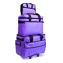 BlueFig TB19 Sewing Machine Carrier/Project Bag/Notion Bag in Purple
