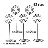 12PCS Wire Shape Wedding Party Favor Clips Stainless Steel Table Number Card Clips Tag Stands Table Number Holder Table Place Card Holder