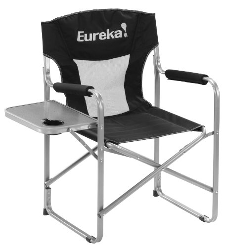 Amazon Com Eureka Director Chair With Side Table Sports Outdoors